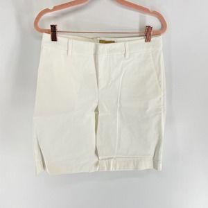 Fay White MidRise Bermuda Trouser Shorts Mens 40